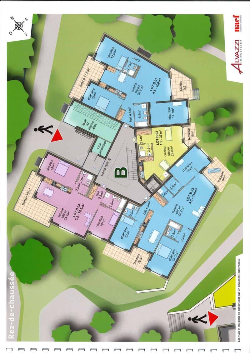 Plan de l'appartement (lot B01)