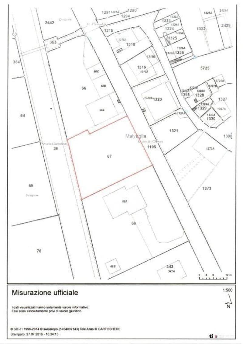 Planimetrie map. 67