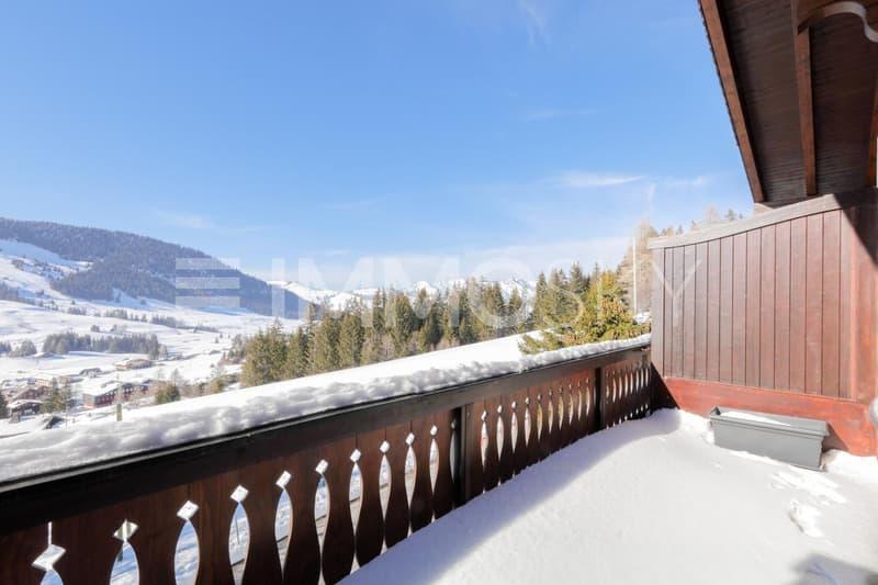 Grand balcon avec vue dégagée