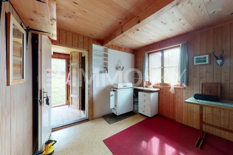 Küchen / Essbereich mit Holzofen