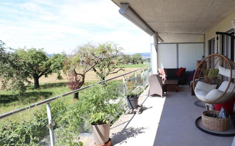 Balcon-terrassse vue campagne