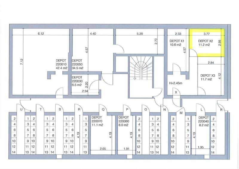 Plan du dépôt