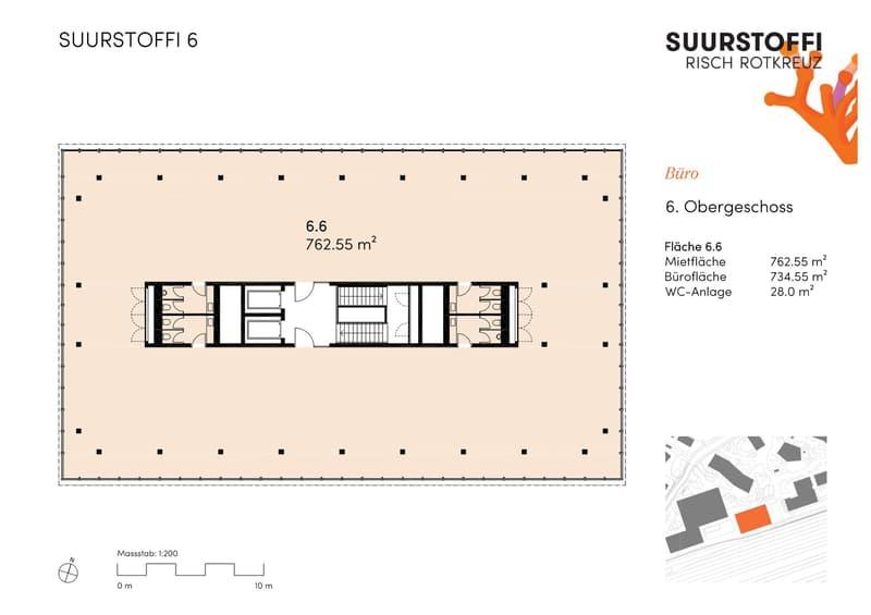 Grundrissplan 6. Obergeschoss