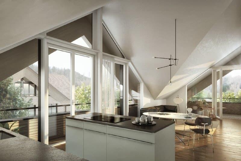 Innenvisualisierung Dachwohnung