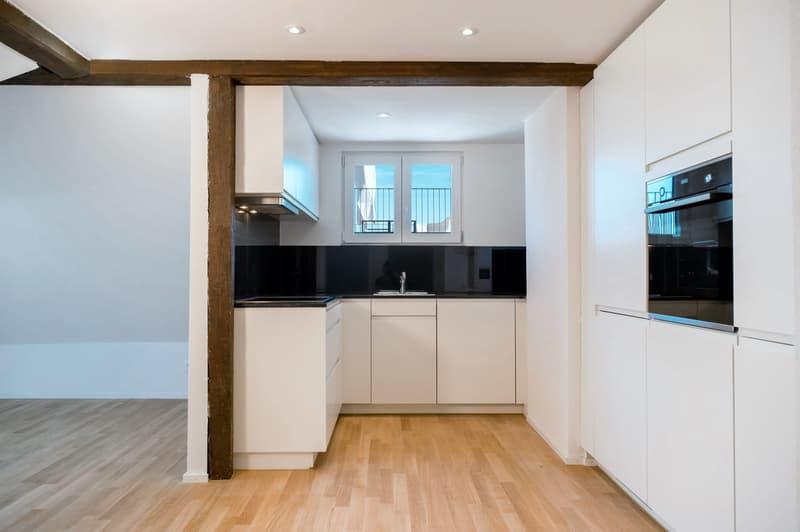 topmoderne Küche mit Glaskeramik + Geschirrspüler