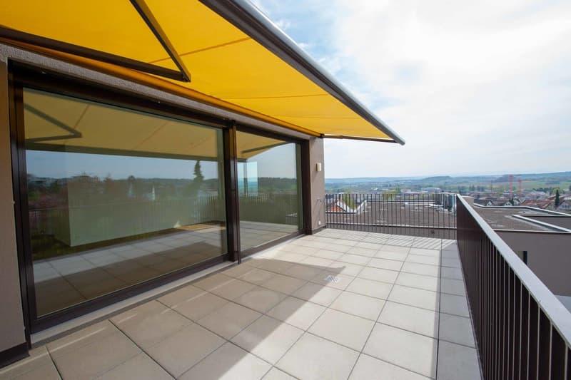 Terrasse mit Alpensicht