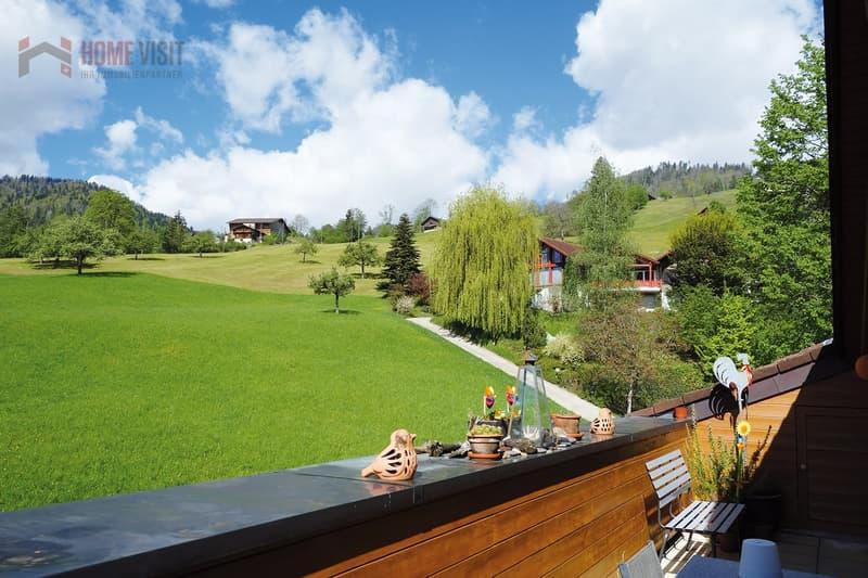 Terrasse mit unverbaubarem Blick ins Grune