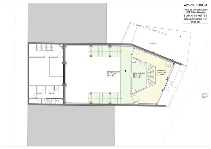 Plan du 1er sous-sol