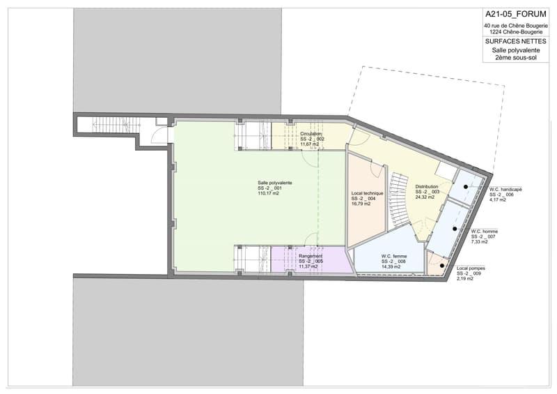 Plan du 2ème sous-sol