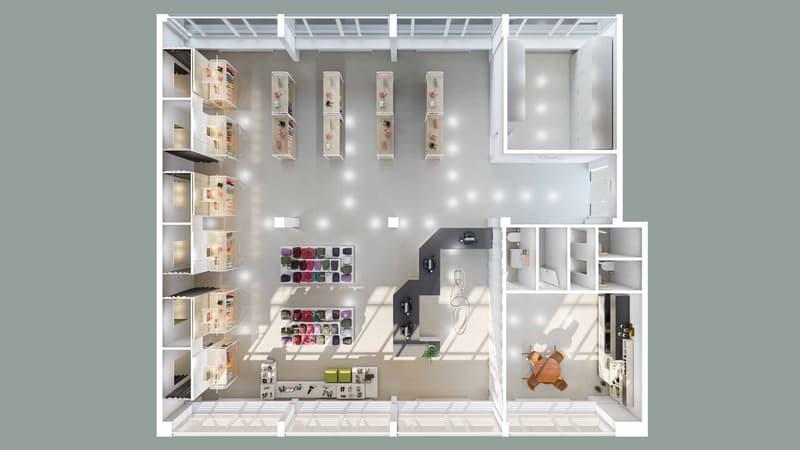 Proposition d'aménagement boutique (image 1ère page)