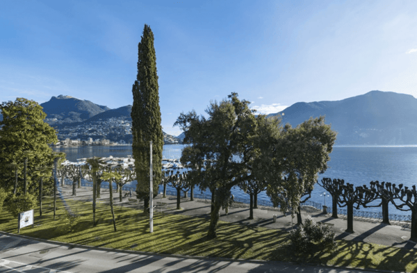 Ufficio Moderno Lugano : Paradiso ufficio posizione centrale sul lungolago con vetrine