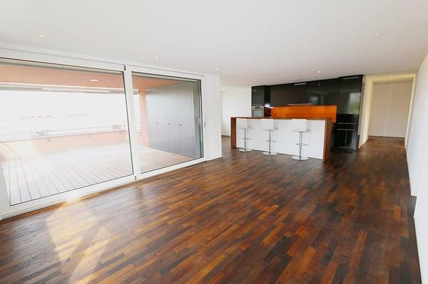 Aussenansicht Wohnzimmer Küche Essbereich Wohnen Essen ...