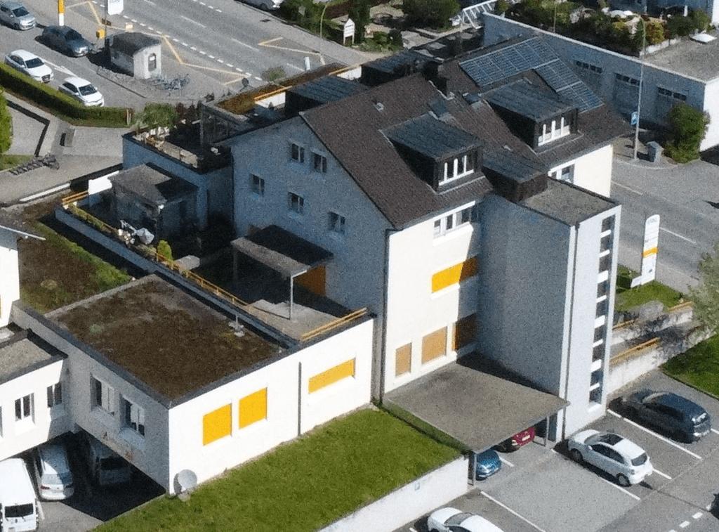 Drohne Luzernstr. 18a mit Terrassenansicht