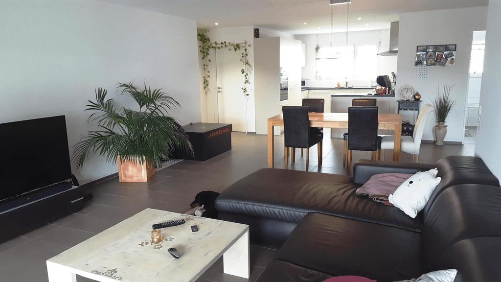 Wohnzimmer und Kueche