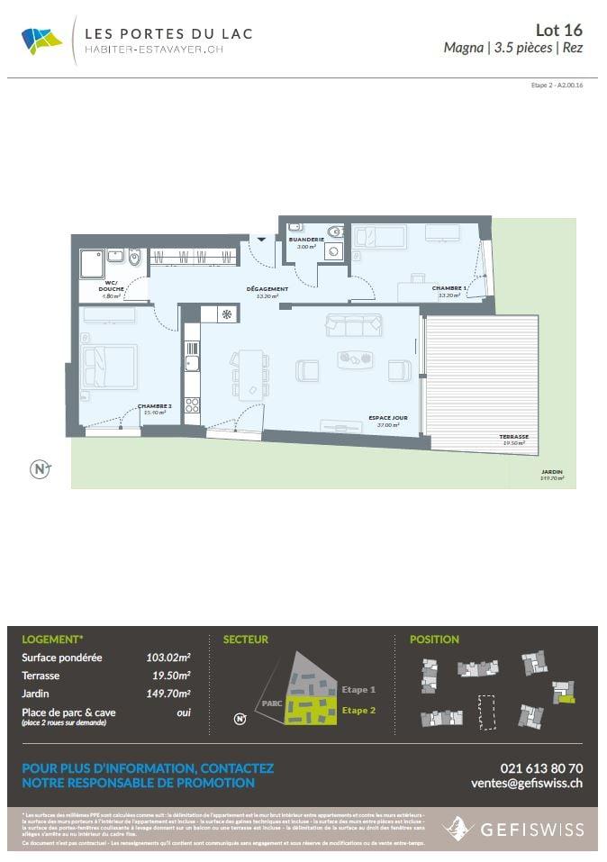 Les Portes du Lac | appartement 3.5 pièces avec jardin | Estavayer ...