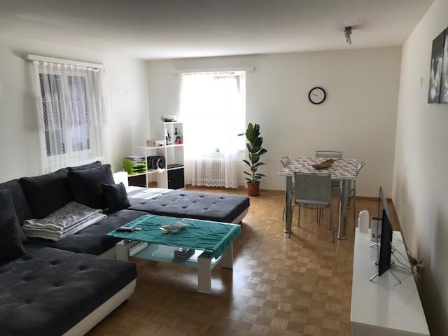 Miete: Schöne, helle Wohnung mit grosszügigem, lichtdurchflutetem Wohnzimmer