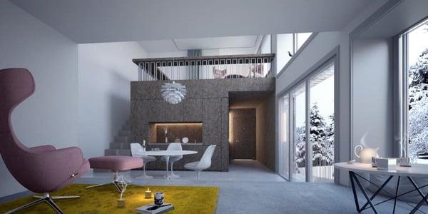 Perfekt Maisonette Wohnung .
