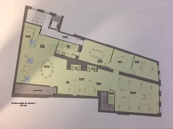 Surface commerciale bureaux de 242 m2 lausanne büro mieten