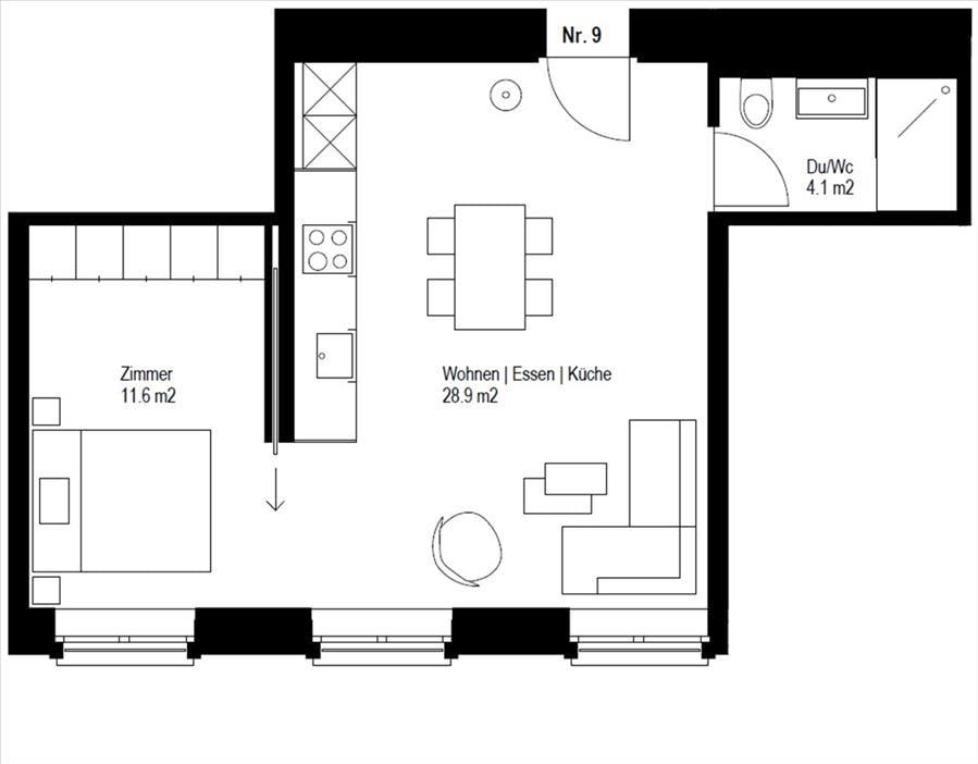 Zeughausgasse 27, Wohnungen