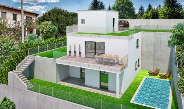 Vacallo: villetta con giardino terrazzato, Vacallo | Einfamilienhaus ...