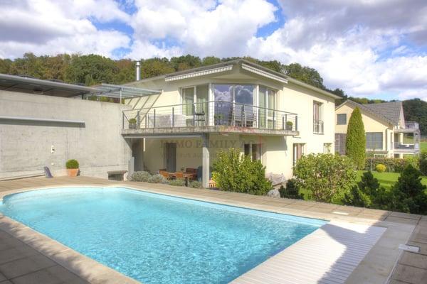Außenpool Kaufen modernes, freistehendes einfamilienhaus mit aussenpool und carport