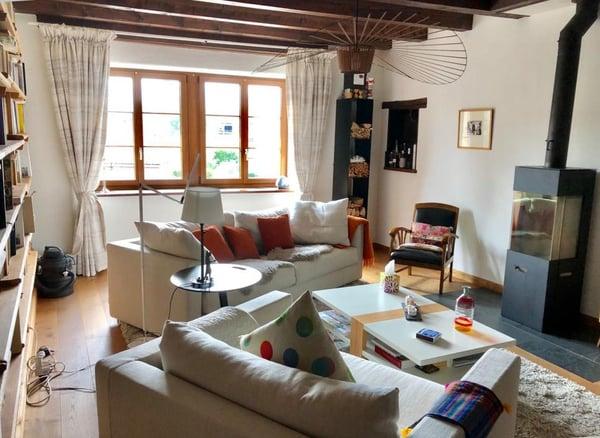 Dans ferme rénovée, superbe appartement au rez-de-chaussée avec ...