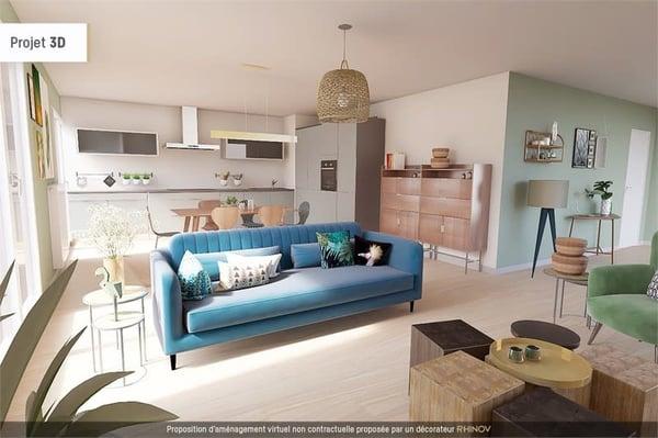 Dpt Haute Savoie (74), à vendre VALLEIRY duplex-jardin T4 de 81.88 m²