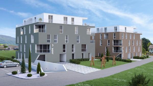 Superbe appartement neuf à louer (entrée fin 2019), Rossemaison ...