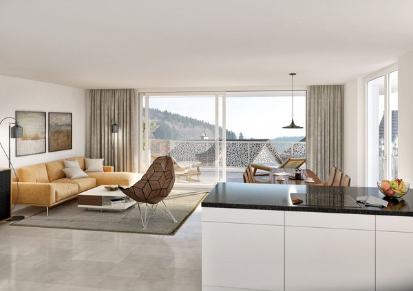 Impression Region Um Busswil Visualisierung 5.5 Zimmer Wohnung Im 2.  Obergeschoss.