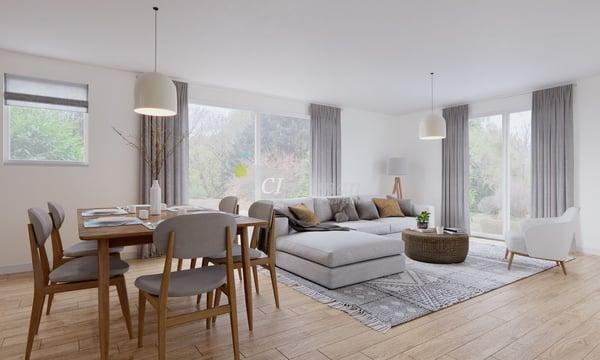 Maison jumelle de 150 m2 avec 4 chambres, 1 jardin et 1 terrasse